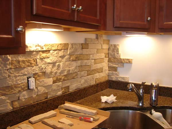 3. Artificial stone Back-splash