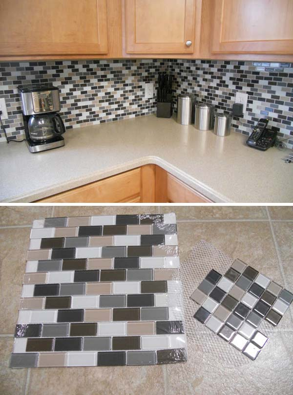 24 Cheap DIY Kitchen Backsplash Ideas and Tutorials You Should See-homesthetics (8)
