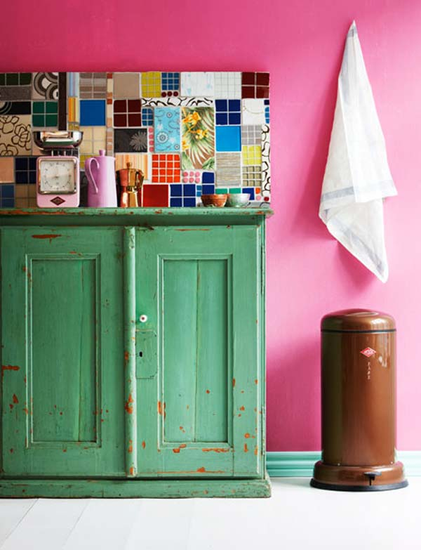 10. Mix and match old colorful tiles