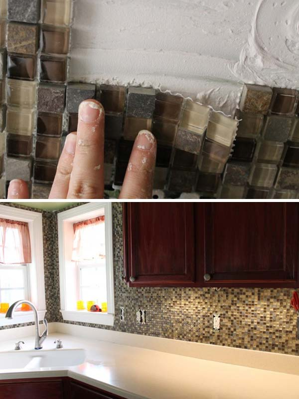 24 cheap kitchen backsplash ideas and tutorials you should see homesthetics 31 - Diy Kitchen Backsplash