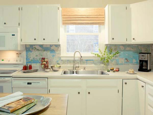 23.The map backsplash