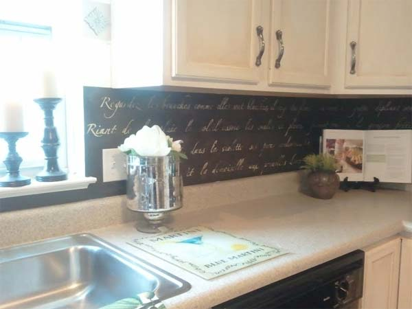 48 Cheap DIY Kitchen Backsplash Ideas And Tutorials You Should See Delectable Chalkboard Paint Backsplash