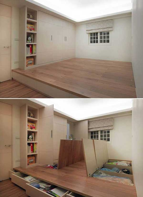 24 Creative & Clever Space Saving Ideas That Will Enlargen ...