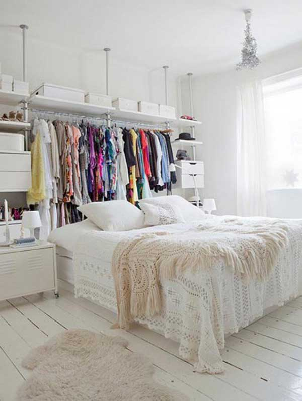 24 creative clever space saving ideas that will enlargen - Space saving closet ideas ...