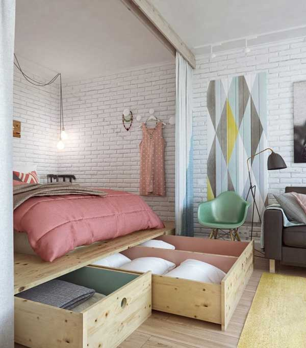 Extremely Small Bedroom Ideas Part - 45: 24 Extremely Creative And Clever Space Saving Ideas That Will Enlargen Your  Space Homesthetics Decor (