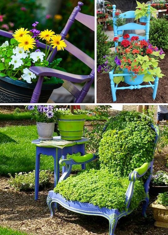 24 insanely creative diy garden container projects that will beautify your backyard landscaping. Black Bedroom Furniture Sets. Home Design Ideas