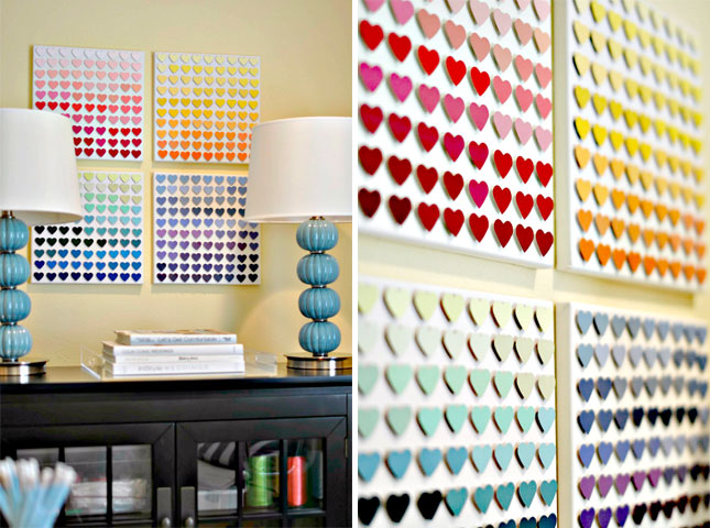 25 creative fun paint chip DIY projects_homesthetics.net (13)