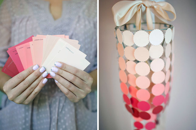 25 creative fun paint chip DIY projects_homesthetics.net (2)
