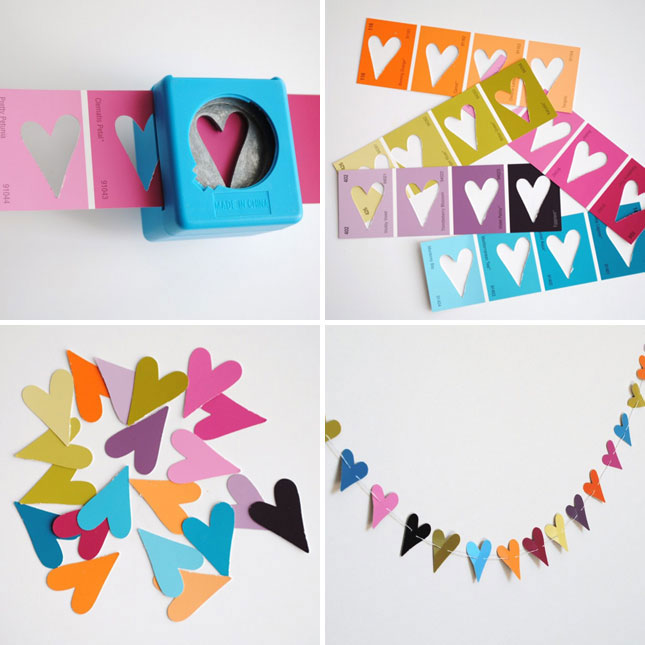 25 creative fun paint chip DIY projects_homesthetics.net (21)