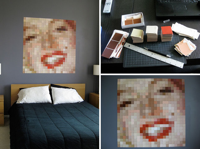25 creative fun paint chip DIY projects_homesthetics.net (22)