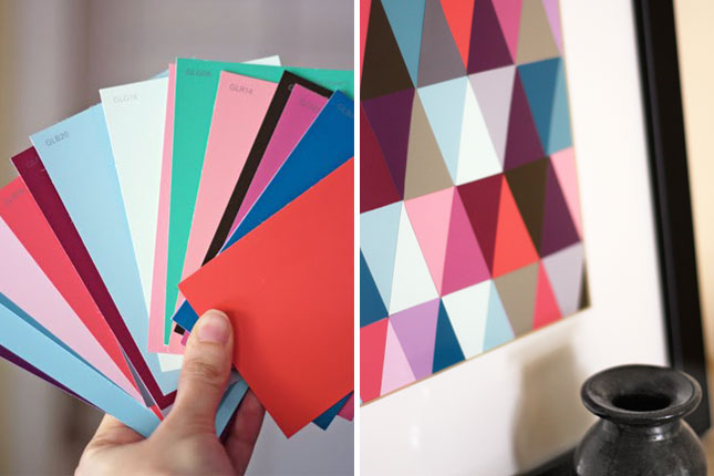 25 creative fun paint chip DIY projects_homesthetics.net (8)