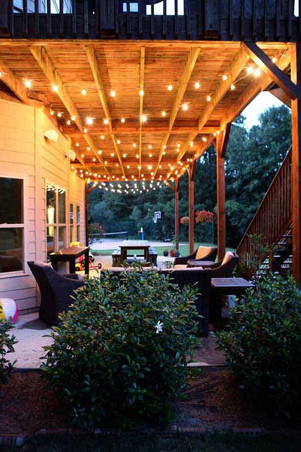 24 jaw dropping beautiful yard and patio string lighting ideas for a 26 jaw dropping beautiful yard and patio string lighting ideas for a small heaven homesthetics backyard workwithnaturefo