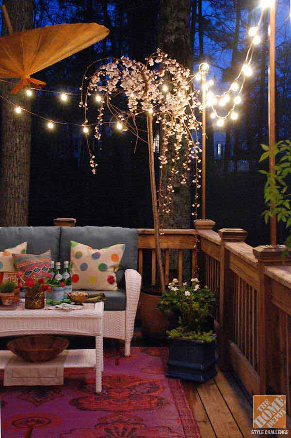 24 jaw dropping beautiful yard and patio string lighting ideas for a 26 jaw dropping beautiful yard and patio string lighting ideas for a small heaven homesthetics backyard mozeypictures Gallery