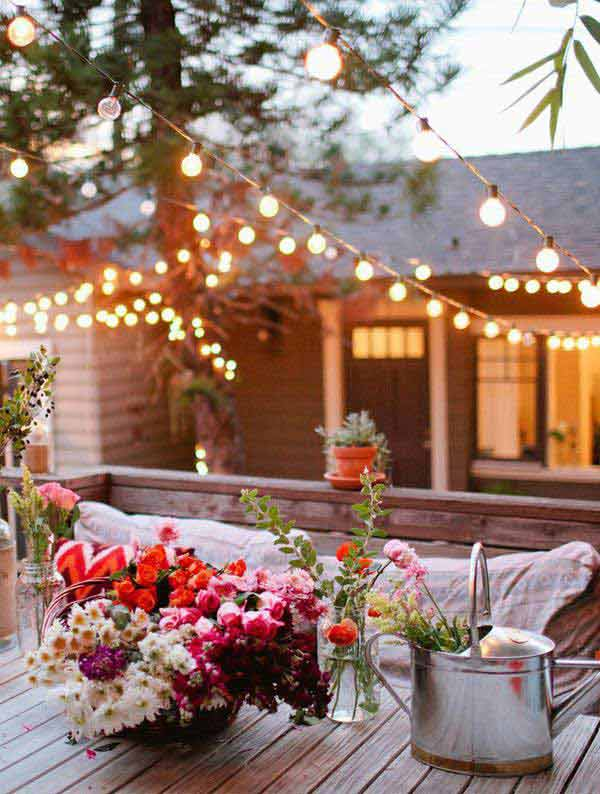 26 Jaw Dropping Beautiful Yard and Patio String Lighting Ideas For a Small Heaven homesthetics backyard landscaping ideas (24)