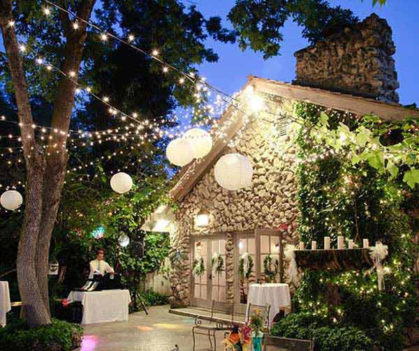Elegant 26 Jaw Dropping Beautiful Yard And Patio String Lighting Ideas For A Small  Heaven Homesthetics Backyard