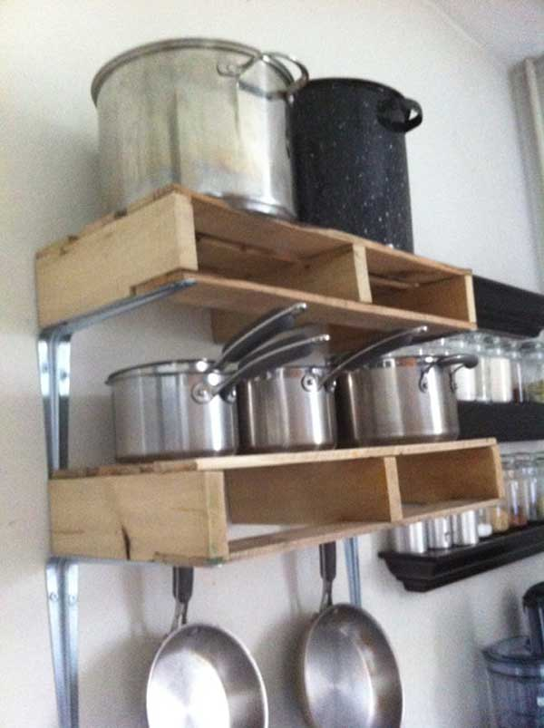 #10 KITCHEN VERTICAL SHELF FROM WOODEN PALLETS