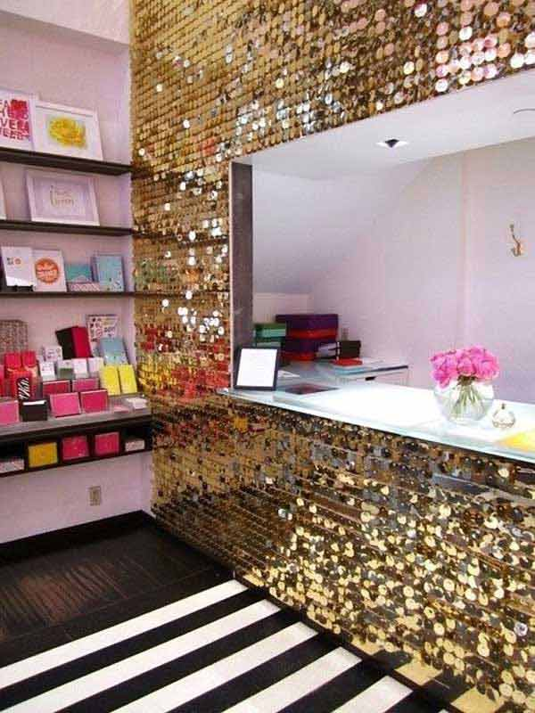 31 Glamorous Sparkling DIY Decoration Ideas To Beautify Your Decor  Homesthetics Decor (6)