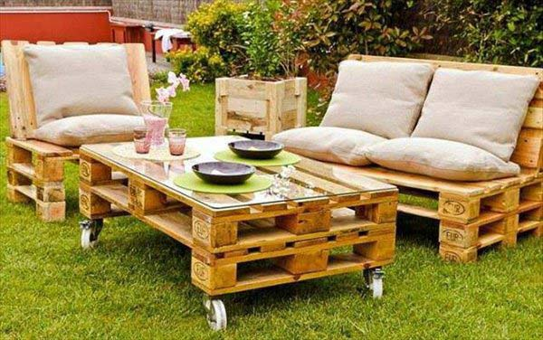 How to make a garden bench out of pallets