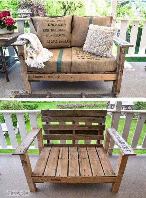 39 Insanely Smart and Creative DIY Outdoor Pallet Furniture Designs ...