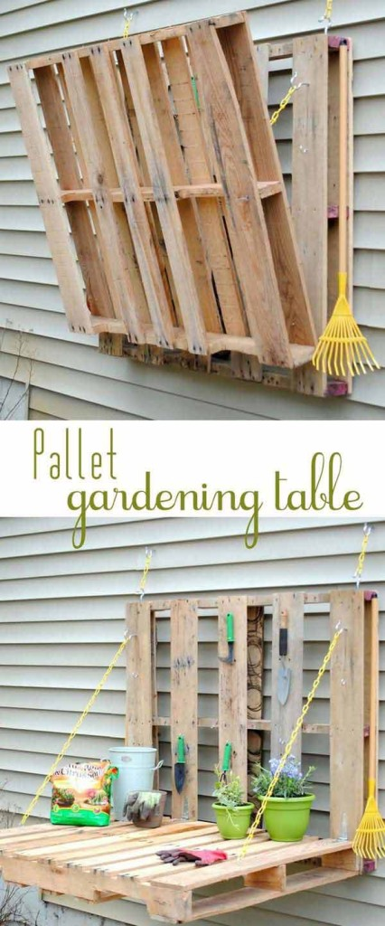 #35 FOLD-ABLE PALLET GARDENING FURNITURE