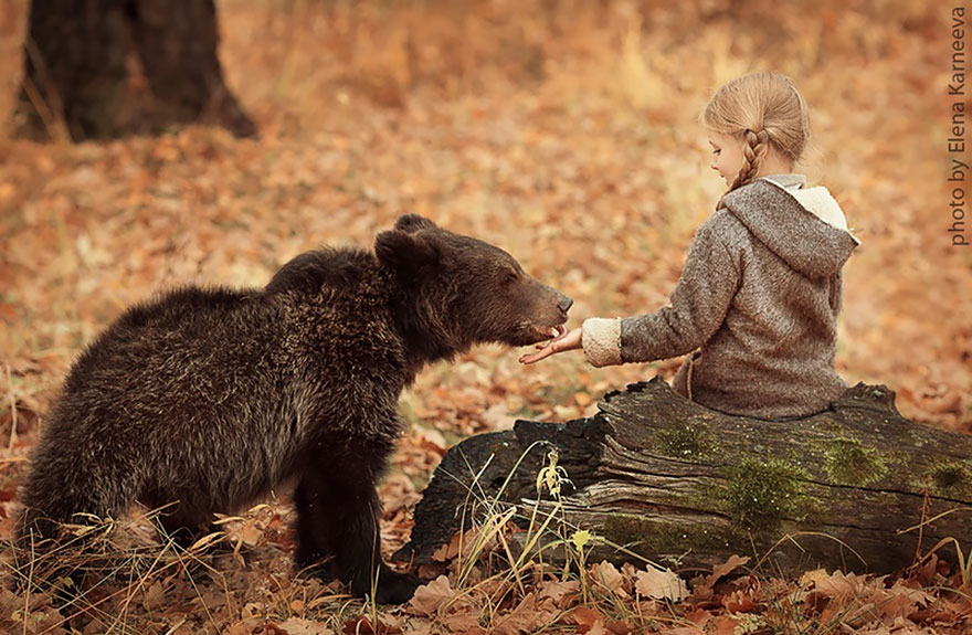 Children And Animals In Cute Photoshoots By Russian Photographer Elena Karneeva homesthetics decor (6)