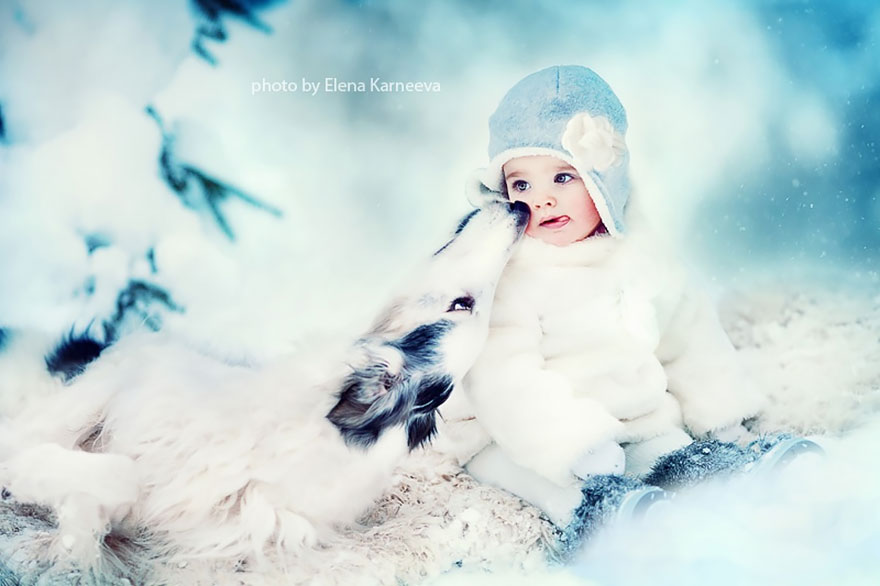 Children And Animals Cuddle In Cute Photoshoots By Russian Photographer Elena Karneeva homesthetics decor (8)