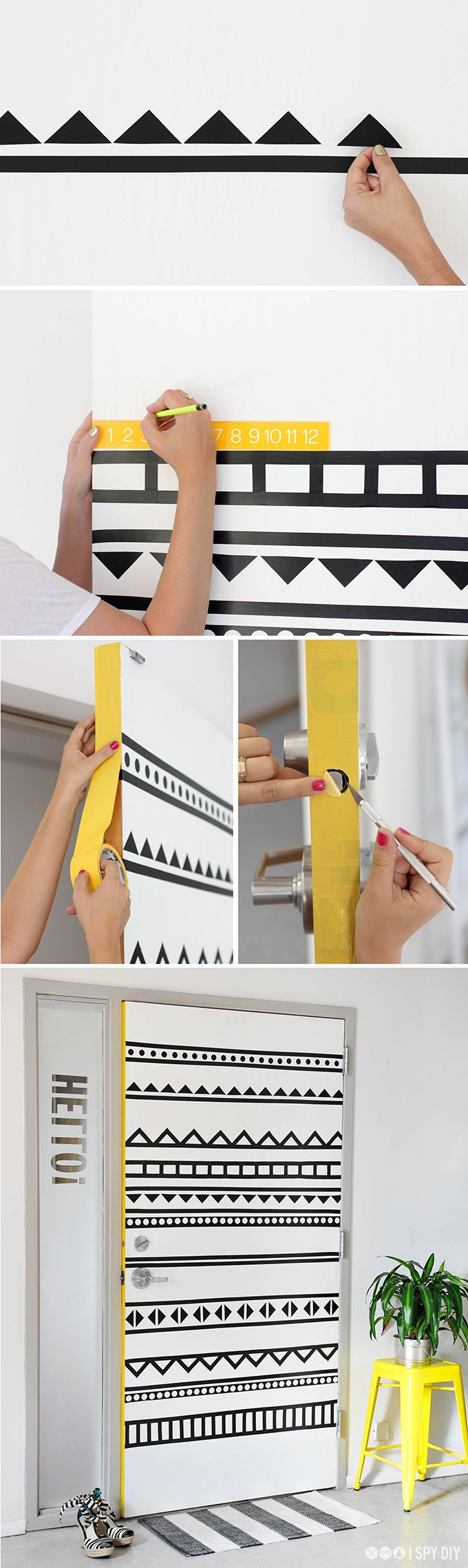 37 diy washi tape decorating projects you will love diy washi tape decorating projects the geometric pattern amipublicfo Choice Image