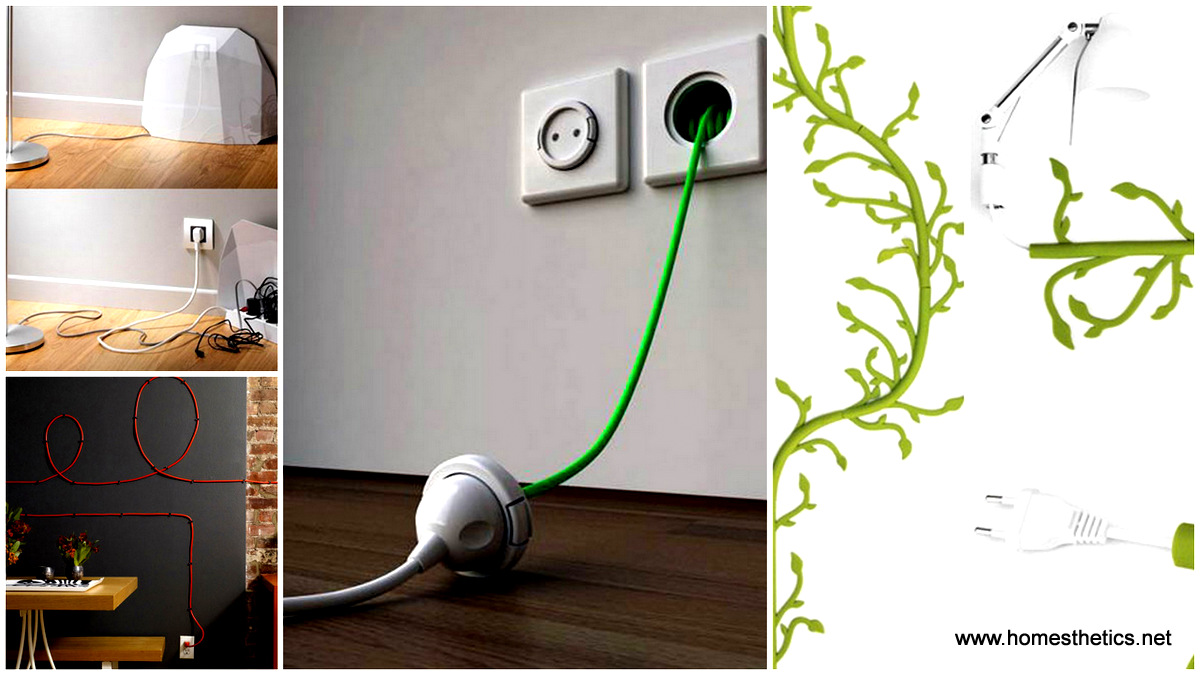 20 Simple and Ingenious DIY Projects That Will Hide Your Wires Into Wall Art