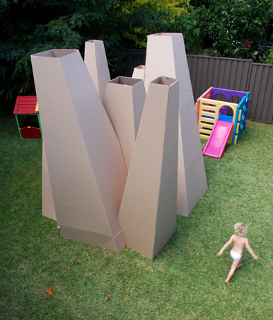 21. ARCHITECTURAL UNUSUAL CARDBOARD HOUSE