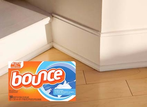 17. REPEL DUST WITH FABRIC SOFTENER