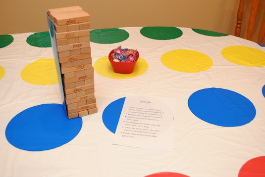 33. FAMILY GAME NIGHTS WITH TWISTER TABLE CLOTH