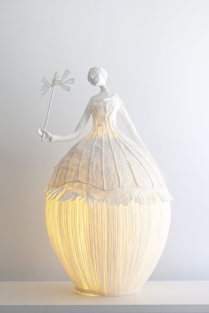 21. DELICATE LAMP FROM PAPIER A ETRES