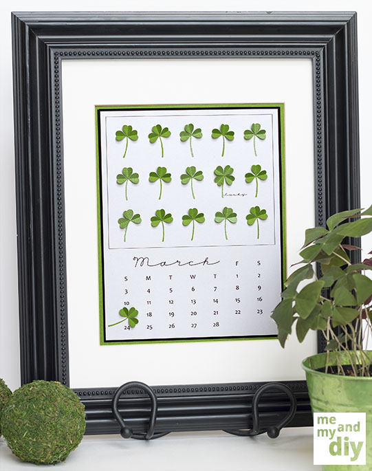 Simply Beautiful DIY March Lucky Shamrock Calendar [Free Printables Included] homesthetics diy tutorial (8)