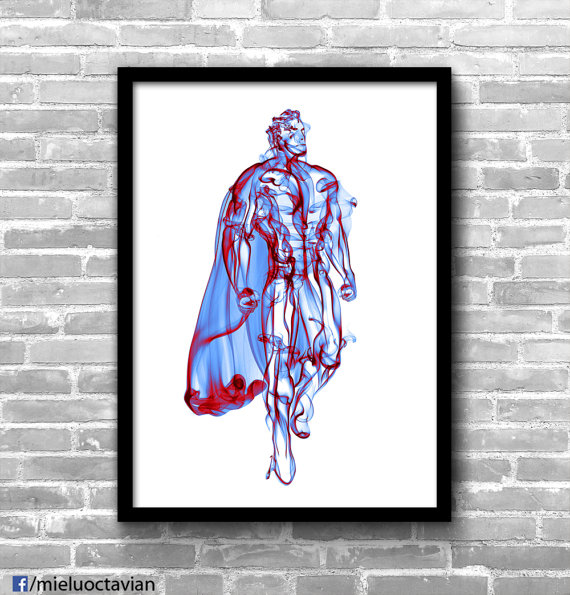 Superheroes Made From Smoke Wall Art Collection