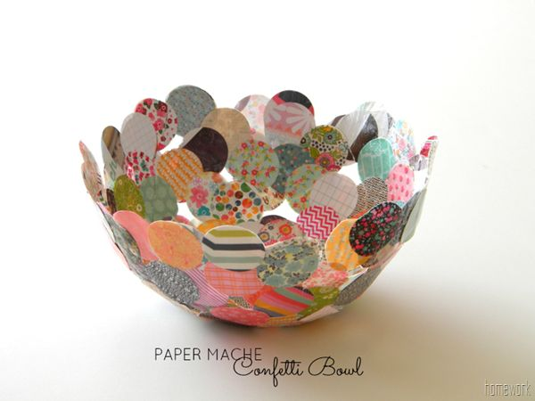 10. CONFETTI BOWL FROM HOME WORK