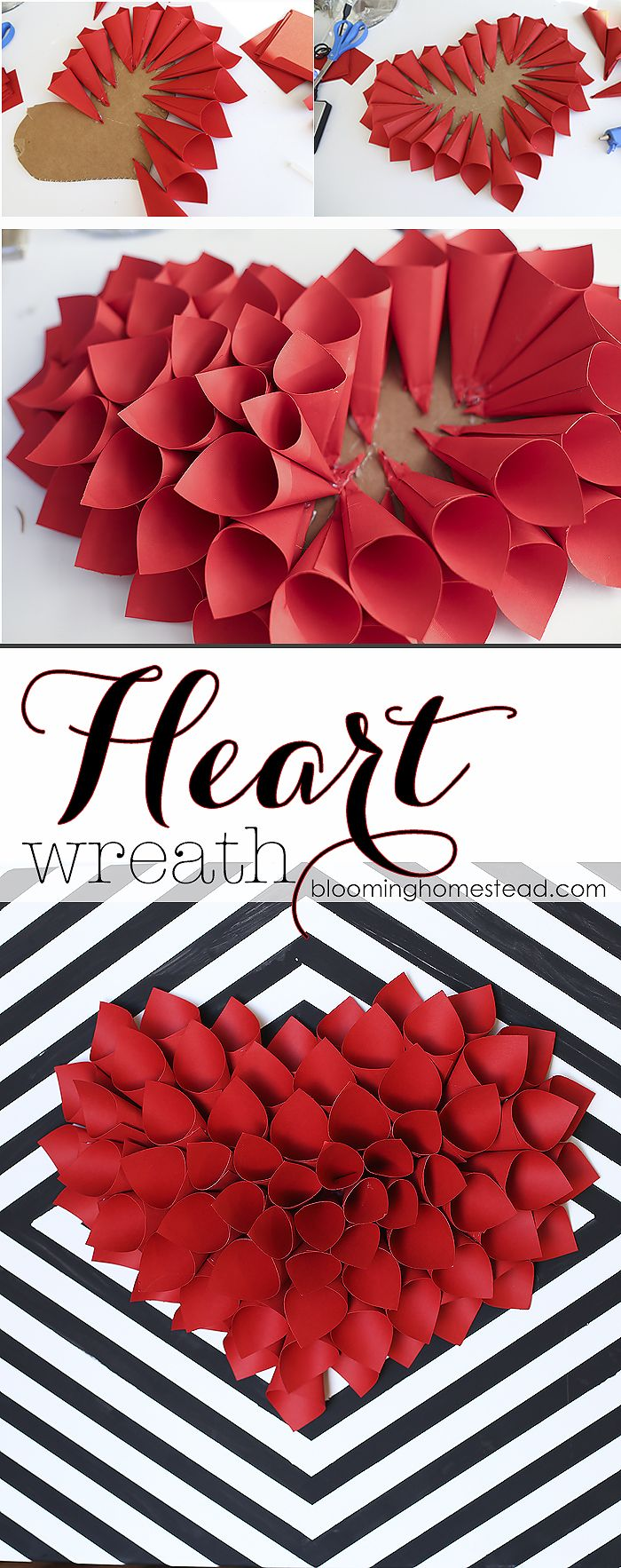 27 easy beautiful diy projects and crafts you should try diy projects and crafts diy paper heart wreath blooming homestead c0bae657b877829c0963f8c2f6171359 solutioingenieria