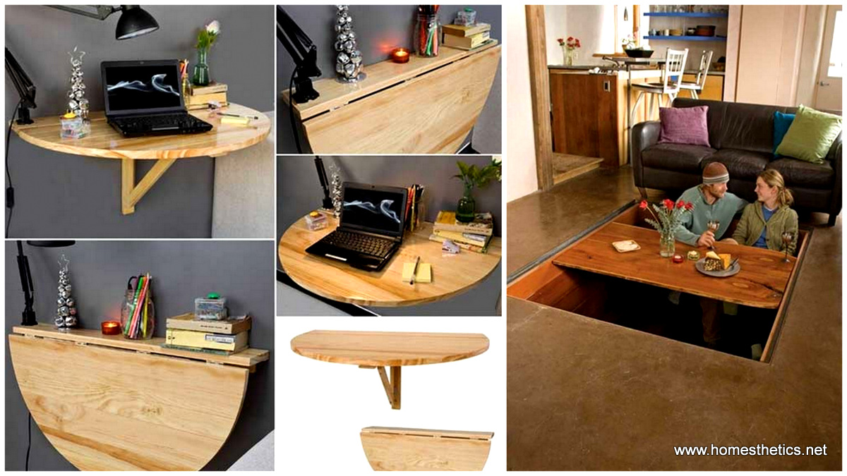 24 creative clever space saving ideas that will enlargen for Creative furniture for small spaces