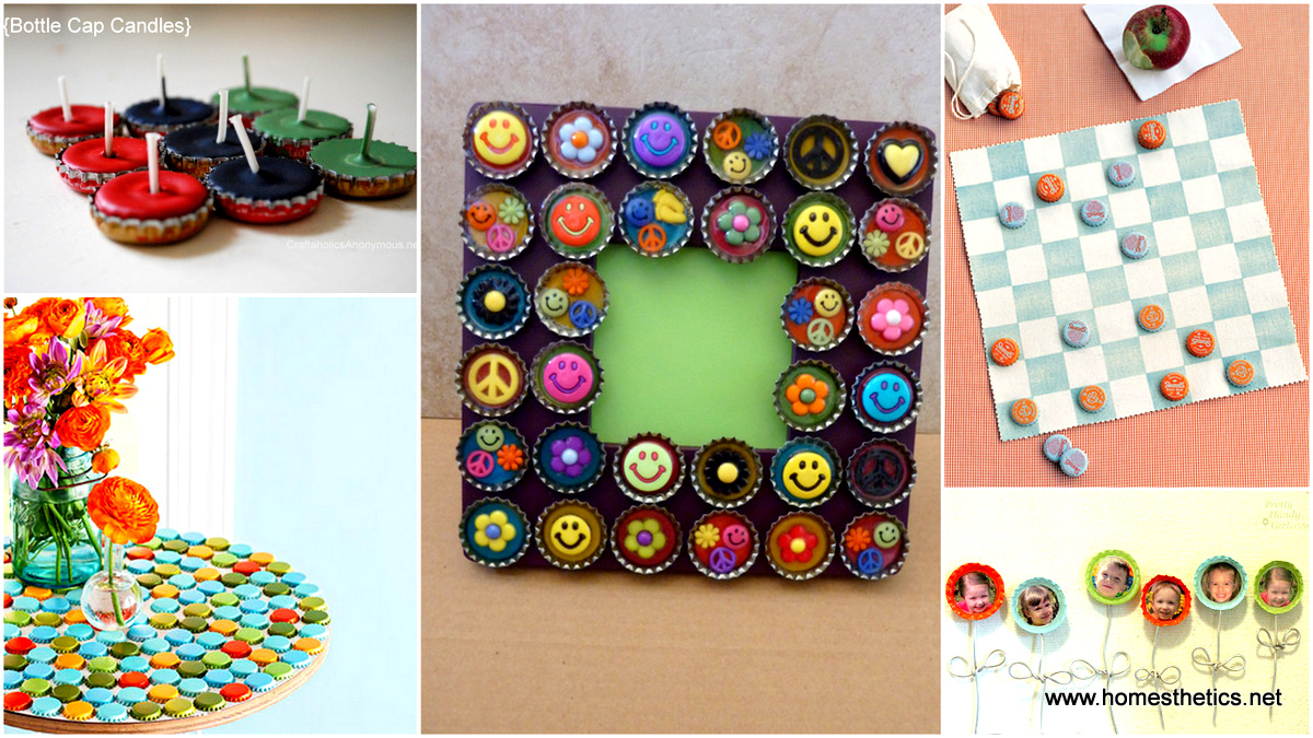 20 ingenious bottle cap crafts that will surprise you with for How to make bottle cap crafts