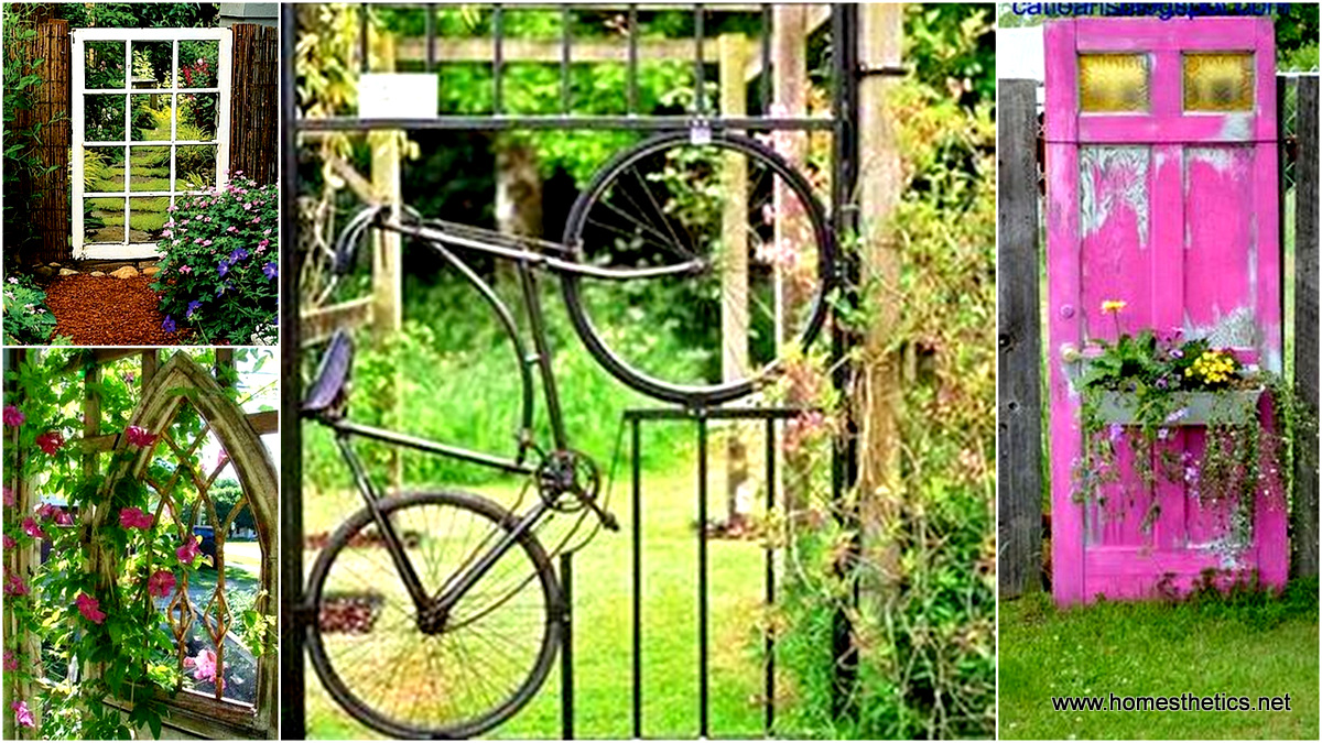 Insanely Beautiful DIY Upcycled Garden Gates That You Will Simply Adore