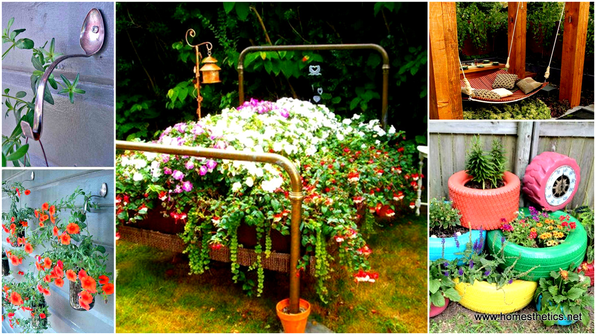 15 diy backyard design ideas that will refresh your for Spring yard decorations