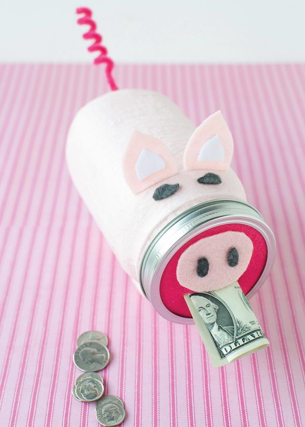 #9 MASON JAR CRAFT OF PIGGY BANK