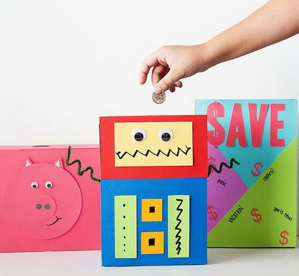 #11 SIMPLE UPCYCLED DIY CEREAL BOXES INTO PIGGY BANKS