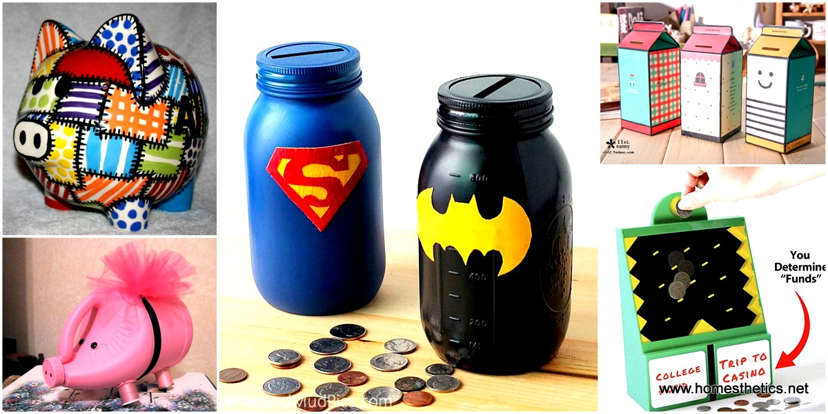 15 Piggy Banks Crafts For Your Kids to Have Fun While Saving Money