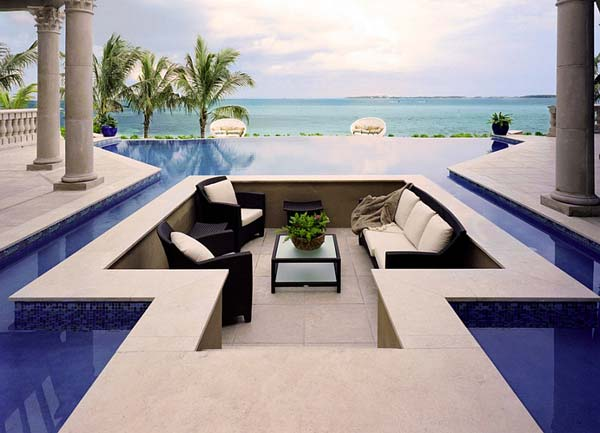 21 Glamorous and Spectacular Lounge Areas and Bedrooms Nestled Between Pools homesthetics decor surrounded by a pool (12)