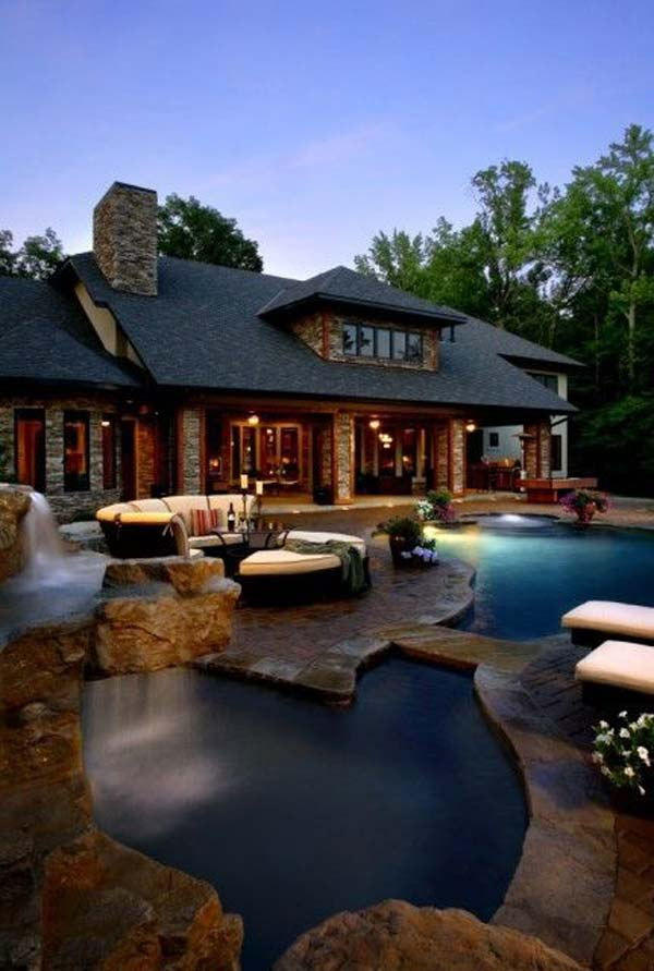 21 Glamorous and Spectacular Lounge Areas and Bedrooms Nestled Between Pools homesthetics decor surrounded by a pool (20)