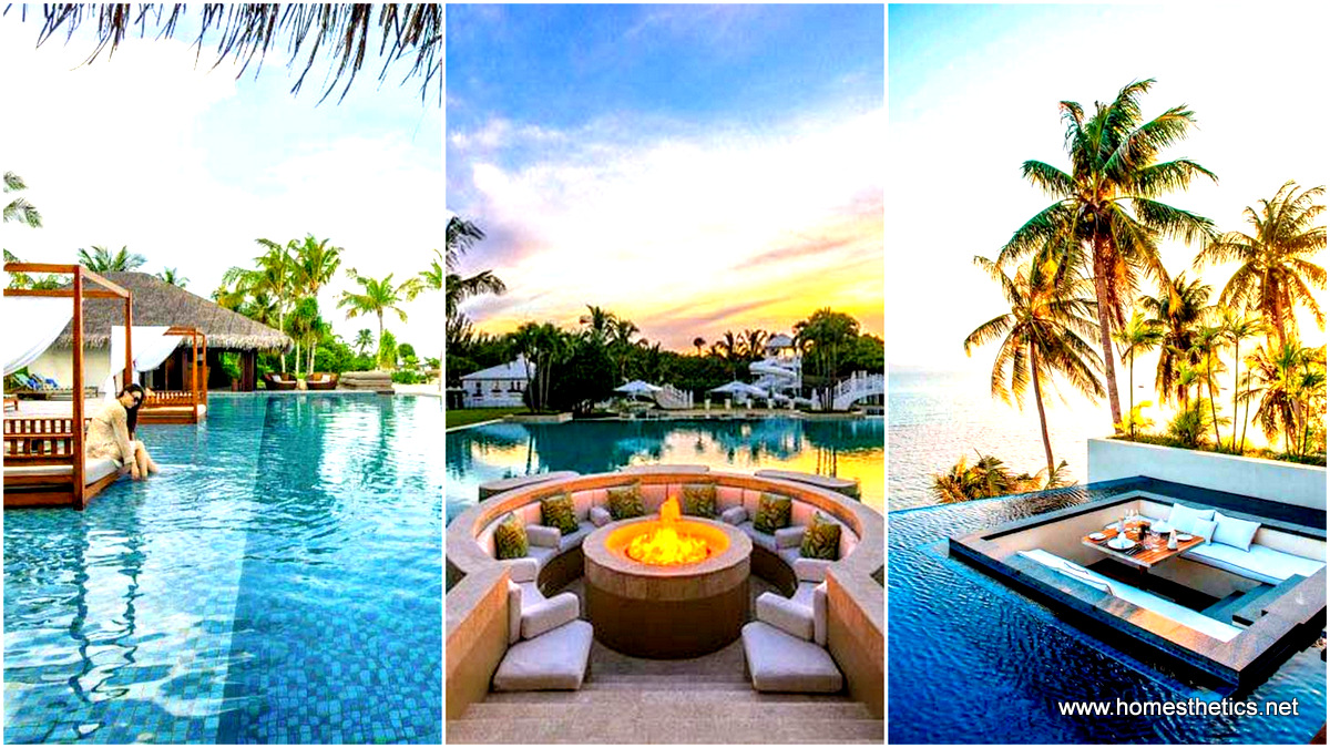 21 Glamorous and Spectacular Lounge Areas and Bedrooms Nestled Between Pools