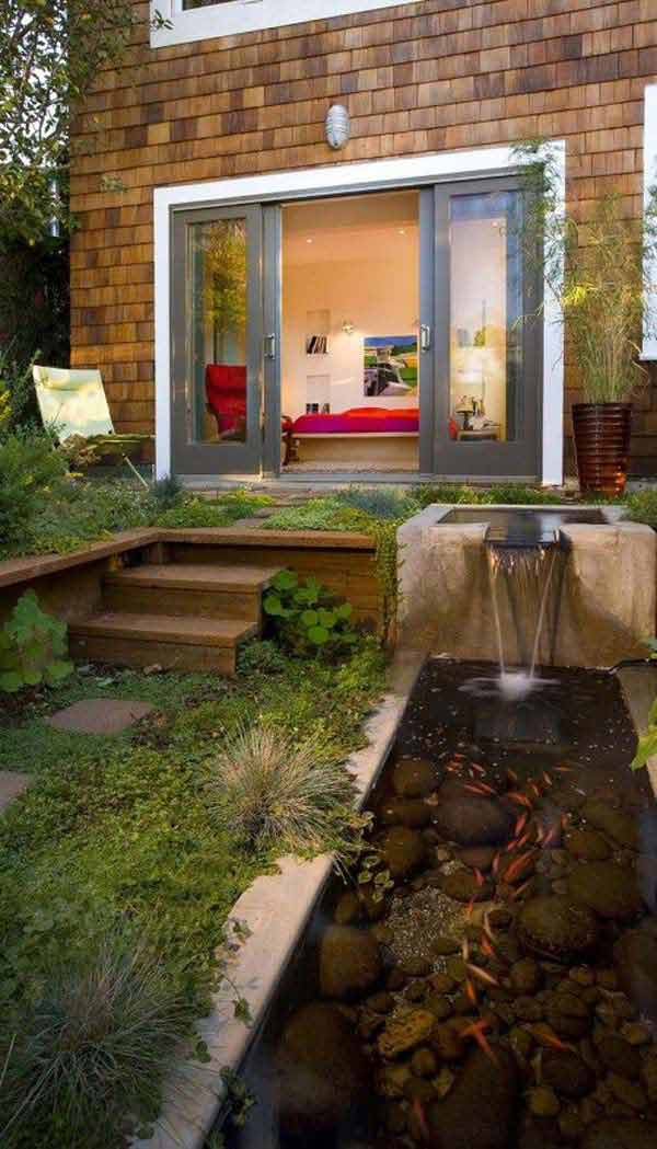 21 small garden backyard aquariums ideas that will for Garden pond design
