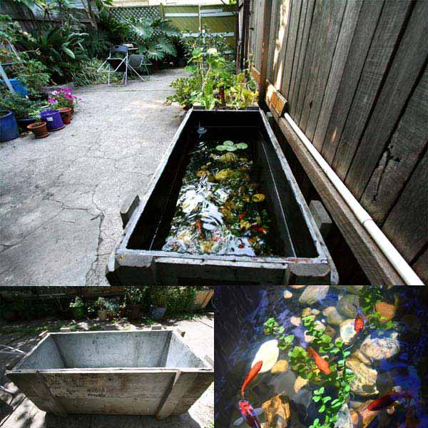 21 small garden backyard aquariums ideas that will for Fish pond tanks for sale
