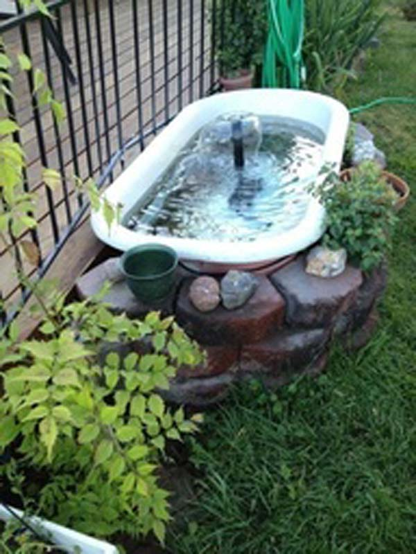 21 small garden backyard aquariums ideas that will for Outside fish pond
