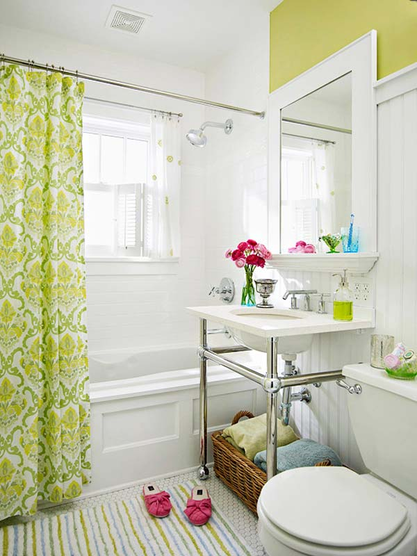 22 Extraordinary Creative Tips and Tricks That Will Enlarge Your Small Bathroom Design homesthetics decor ideas (10)